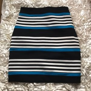 Express Striped Fitted Skirt Size 0